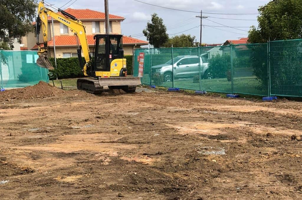 Rear Yard construction